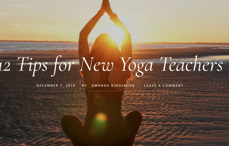 12 Tips for New Yoga Teachers